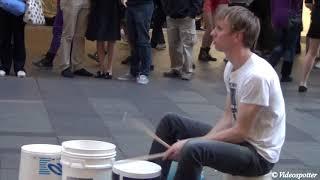 Amazing Super Fast Bucket Drumming by Gordo @ Pitt Street Mall Sydney thumbnail