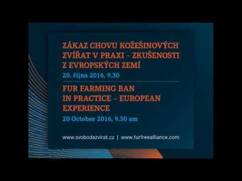 Přímý přenos ze semináře Zákaz chovu kožešinových zvířat v praxi - zkušenosti z evropských zemí