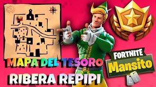 Mapa del tesoro Ribera Repipi // Desafios semana 5 Temporada 5 FORTNITE