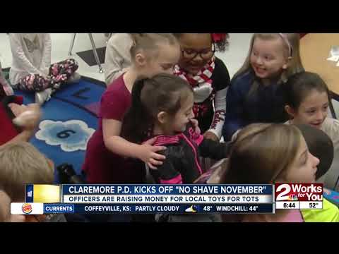 "Claremore Police Department kicks off ""No Shave November"" fundraiser"