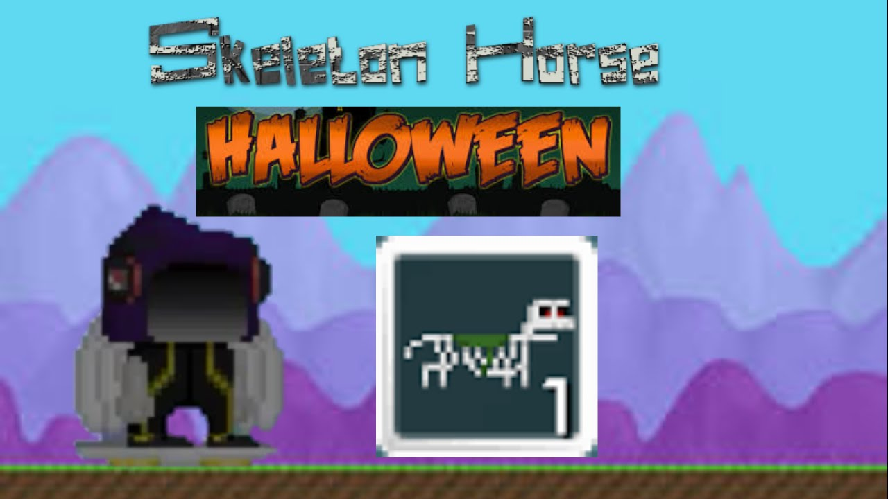 how to make a skeleton horse in growtopia