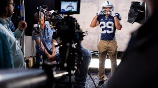 Behind The Scenes At Penn State Cornerback John Reidand39s Video Shoot At The Big Ten Media Days