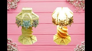 How to make Easily a Popsicle Stick Lamp || Lamp Shade || Table Lamp