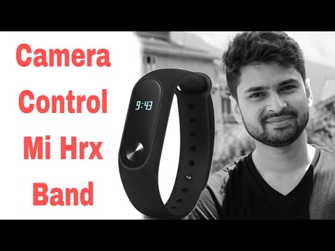 How to control Camera from Mi band HRX Edition   Xiaomi Mi Band HRX Edition camera control