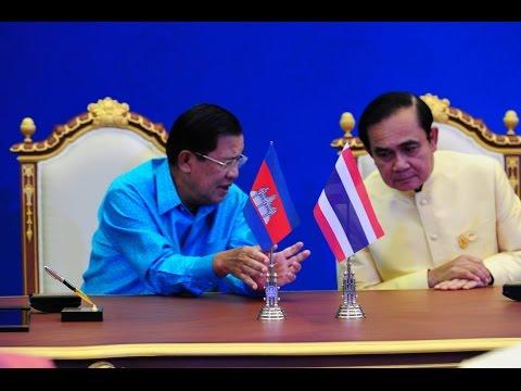 Hun Sen Prime minister of Kingdom of Cambodia in Thai  18 19 December 2015 TVK