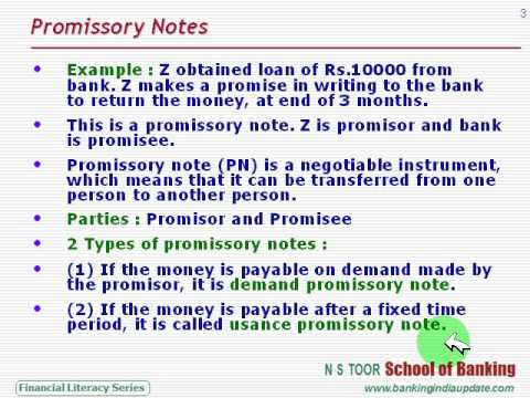 Promissory Notes And Bills Of Exchanges - Youtube