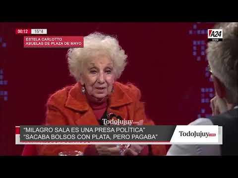 Estela de Carlotto sobre Milagro Sala: Sacaba bolsos de plata