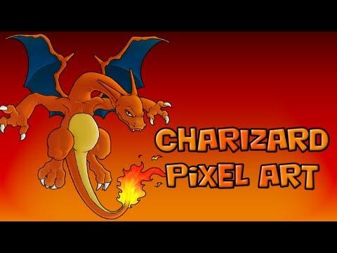 Dracaufeu Pokemon Charizard Pixel Art Minecraft Hd