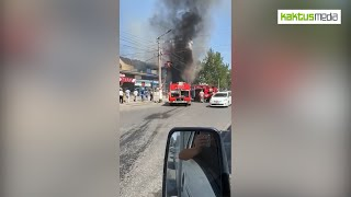 В Оше горит ресторан