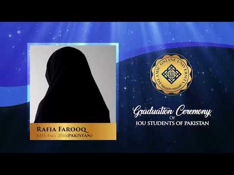 IOU Graduation Ceremony - Pakistan 2018