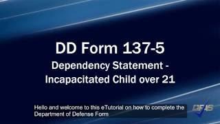 Yardıma muhtaç Çocuk 137-5 Form DD