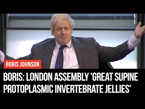 Boris Calls London Assembly 'Great Supine Protoplasmic Invertebrate Jellies'