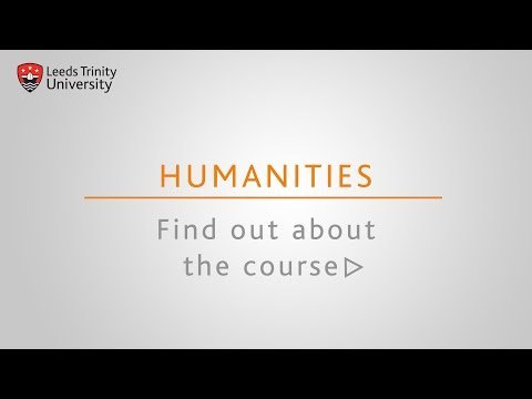 Leeds Trinity University: Humanities courses