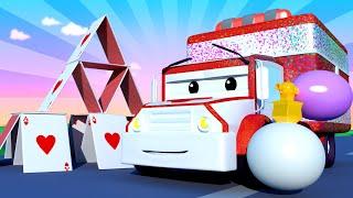 Автомойка Эвакуатора Тома - Скорая помощь Эмбер и блёстки - Автомобильный Город 💧 детский мультфильм