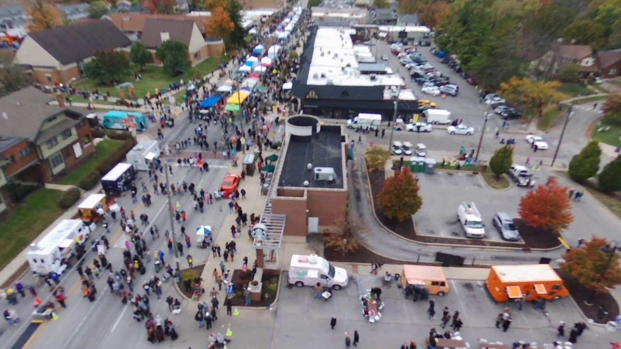 2017 Irvington Halloween Festival Drone Flight 1 - YouTube