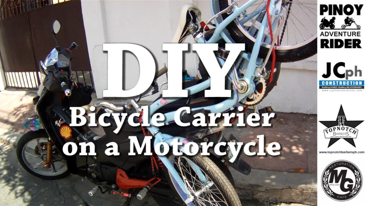 DIY Bicycle Carrier on a Motorcycle