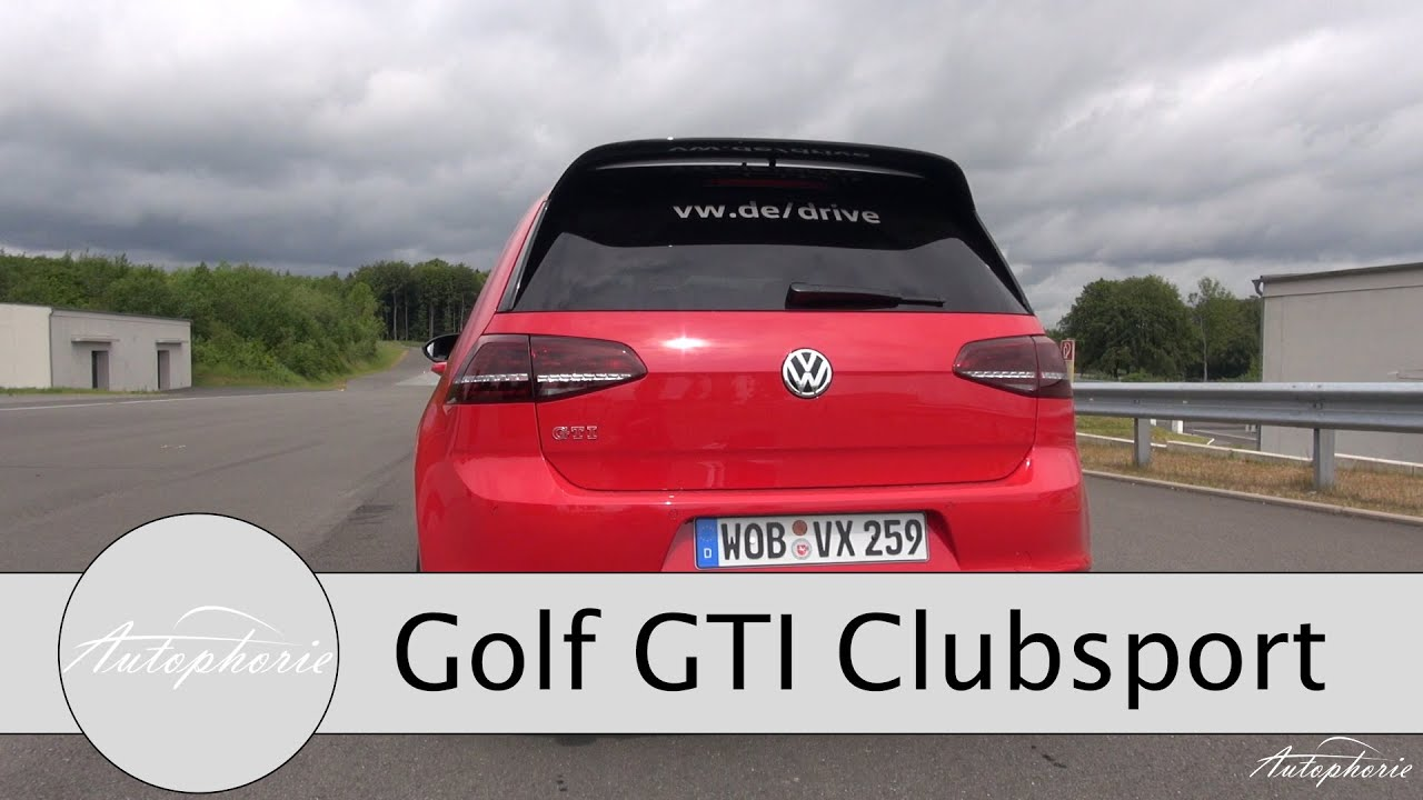 2016 vw golf gti clubsport exhaust sound acceleration 0 100 kph 0 62 mph youtube. Black Bedroom Furniture Sets. Home Design Ideas