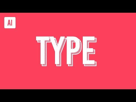 Create a Trendy Type Effect in Illustrator Tutorial thumbnail
