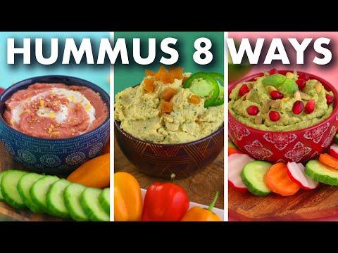 Healthy HUMMUS Recipes – 8 Crazy Flavors!