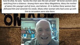 Lesson 110 Mark 15:38-41  November 11, 2020