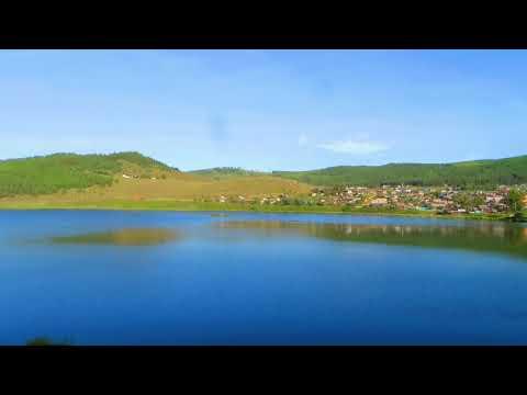 Вид из окна поезда - Мыкыртское водохранилище (г.Петровск-Забайкальск, Забайкальский край)
