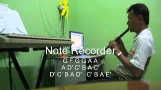 Ombak Rindu Recorder dengan Note  - Padzil (HQ)