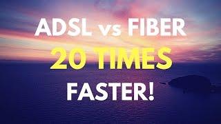 ADSL vs FIBER Broadband Speed Test and 4K Video Streaming Test