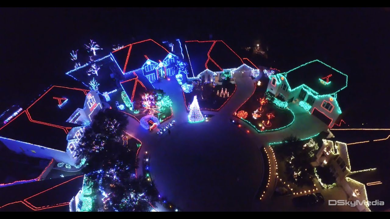 christmas lights by drone cool aerial perspective inspire1 4k footage youtube