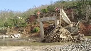 María se llevó este puente en Puerto Rico