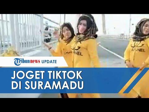 Viral Video Aksi 3 Wanita Buat Video TikTok Nari India di Jembatan Suramadu, Polisi: Jelas Bahaya