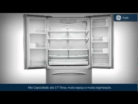 refrigerador side by side ge french door youtube. Black Bedroom Furniture Sets. Home Design Ideas