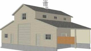 Plan #g339a  52 X 38 - Barn Plan.wmv
