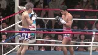 マーナサック・ピンシンチャイ(バンダム級王者) VS 江幡睦(伊原道場) 前半