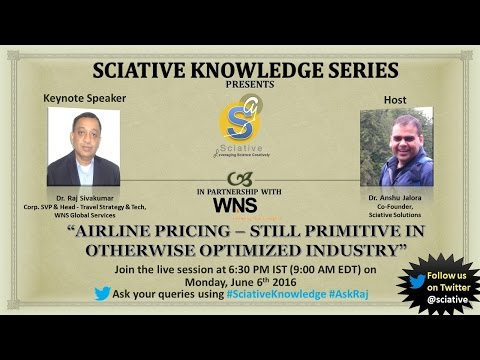 Sciative Knowledge Series: Airline Pricing – Still Primitive in Otherwise Optimized Industry