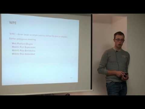 "Žan Doberšek - From ""WebKit for Wayland"" to WPE"