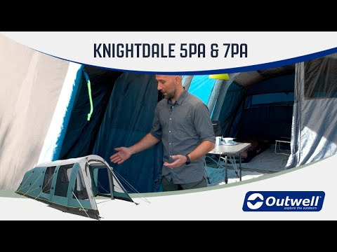 Outwell Knigthdale 5PA & 7PA - Inflatable Air Tent (2020) | Innovative Family Camping