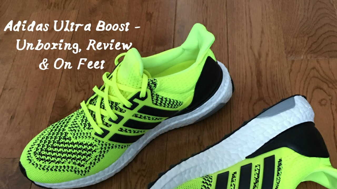 best sneakers f28bd ef743 ... cheap adidas ultra boost unboxing review on feet youtube 5d7a5 ce762