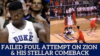 Zion Williamson returns from knee injury | Zion Williamson Return vs Syracuse | Failed Trip on Zion