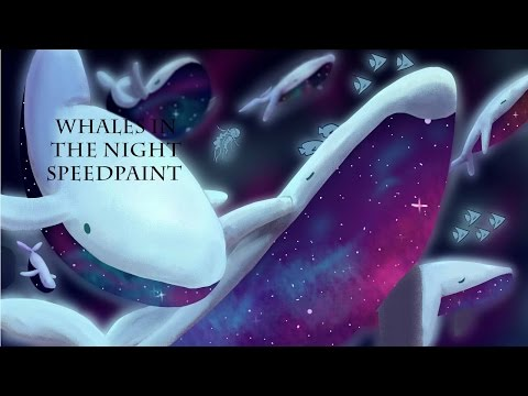 Original Speedpaint-  Whales in the Night