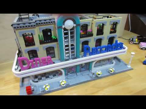 Diner LEGO set 10260 Review Added Record store
