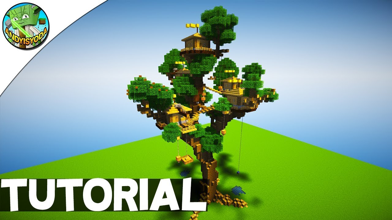 Minecraft Creative Tips Tricks: HOW TO BUILD A TREEHOUSE IN MINECRAFT
