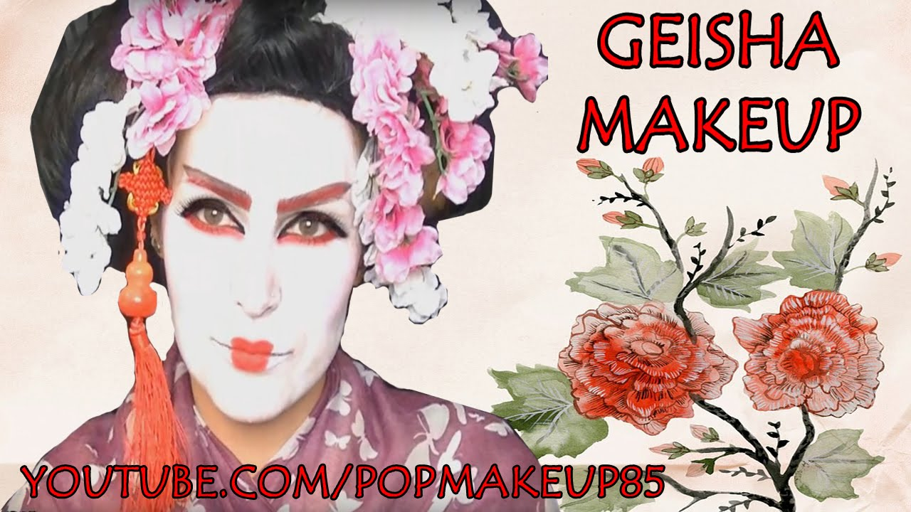 Bien connu Trucco da GEISHA - make up per Carnevale 2017 FACILE - YouTube FU43