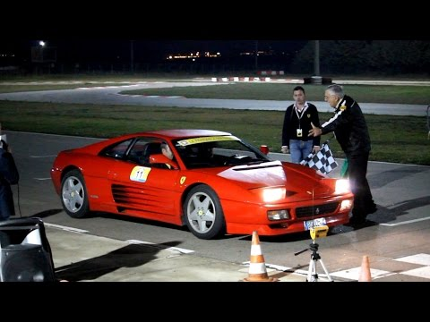 FERRARI 348 TB ON THE TRACK - Powerslides and fast laps 2014 HQ