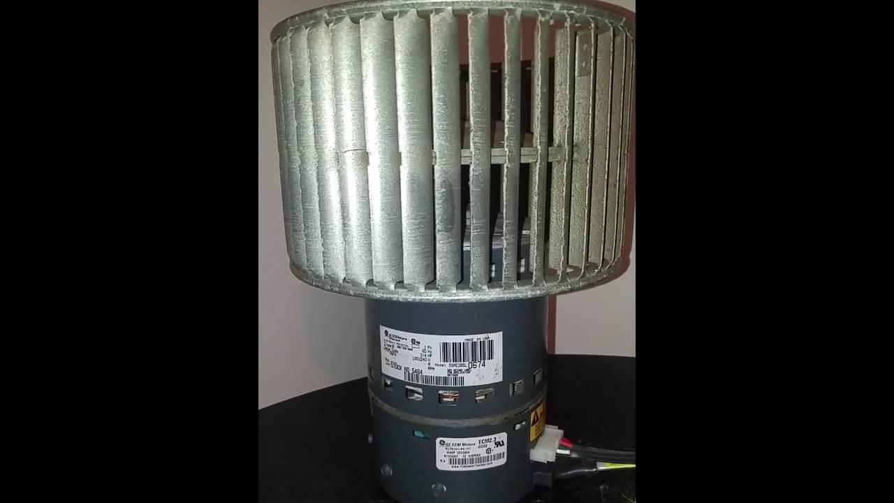 Ge ecm 3 4hp 120 240v 2 3 furnace blower motor youtube for Ecm blower motor tester