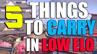5 Things to CARRY YOUR TEAM in lower elo ( Bronze, Silver, Gold, Plat Climbing Tips )   Overwatch