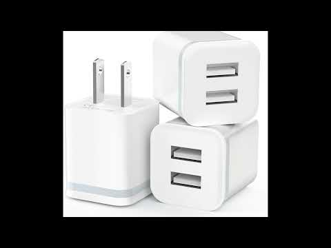 LUOATIP Dual Port USB Cube Power Adapter Charger | Smart Electronics Gadget Store