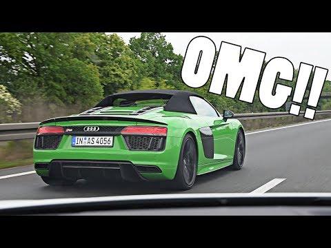 MY TOP SPEED AUTOBAHN RUN!! *NEW AUDI R8 SPYDER*
