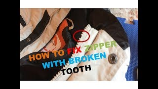 How to fix a zipper with a broken tooth