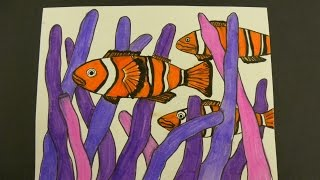 Kids Can Draw: Clown Fish in Sea Anemones
