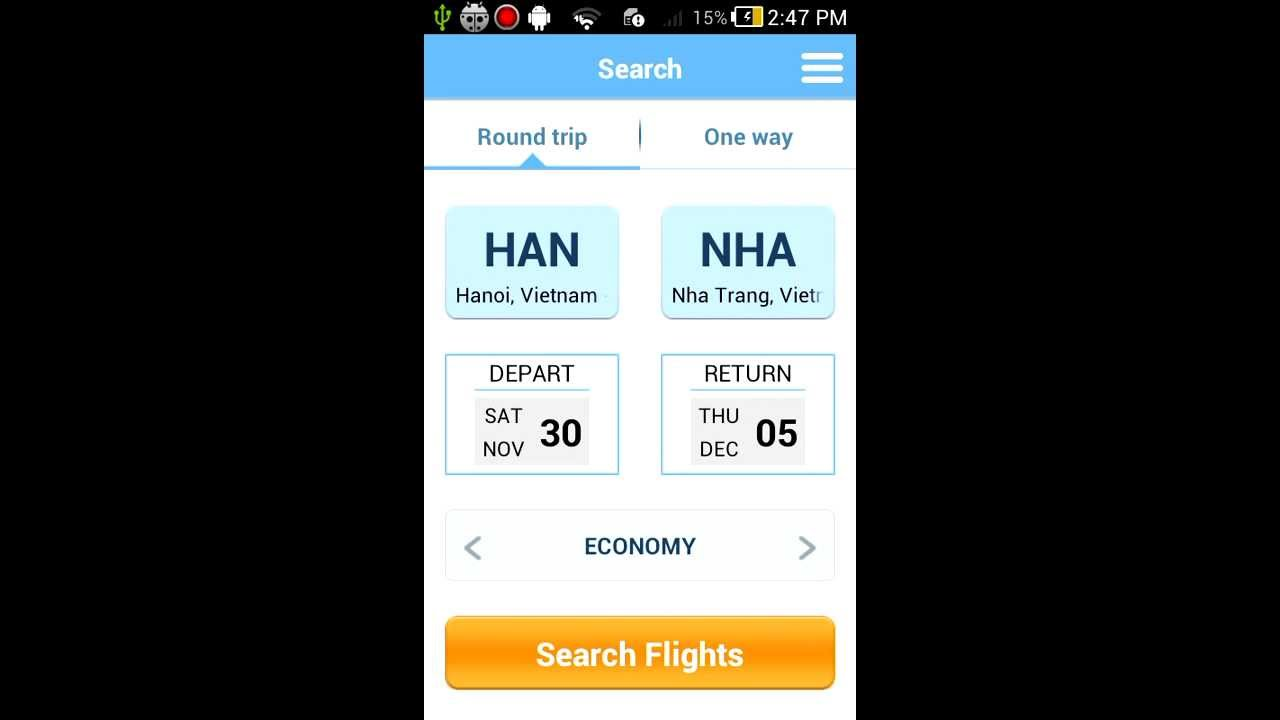 Project Template - Flight Ticket Booking Mobile Android App Template ...